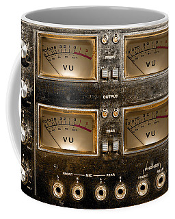 Coffee Mug featuring the photograph Playback Recording Vu Meters Grunge by Gunter Nezhoda