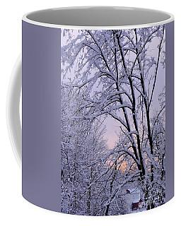 Playhouse Through Snow Coffee Mug