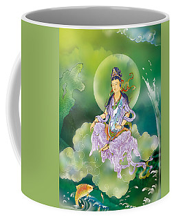 Playing Avalokitesvara   Coffee Mug by Lanjee Chee