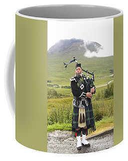 Playing Bagpiper In Highlands Coffee Mug