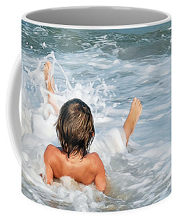 Playing In The Waves Coffee Mug