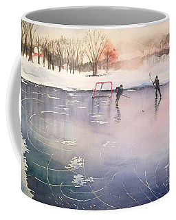 Playing On Ice Coffee Mug by Yoshiko Mishina