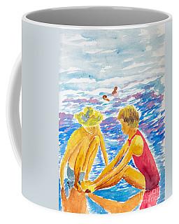 Playing On The Beach Coffee Mug