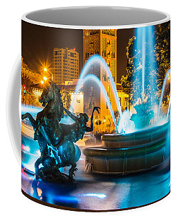 Plaza Blue Fountain Coffee Mug by Steven Bateson