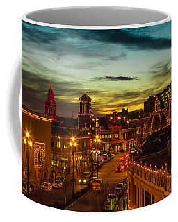 Plaza Lights At Sunset Coffee Mug by Steven Bateson