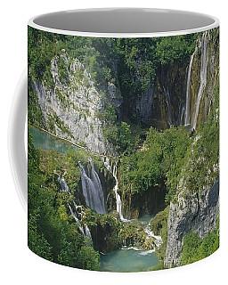 Coffee Mug featuring the photograph Plitvice Lakes In Croatia by Rudi Prott