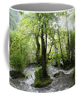 Plitvice Lakes Coffee Mug by Travel Pics