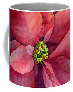 Plum Poinsettia Coffee Mug