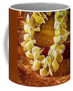 Plumeria Lei On Koa Box Coffee Mug