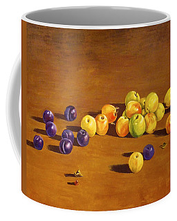 Plums And Apples Still Life Coffee Mug