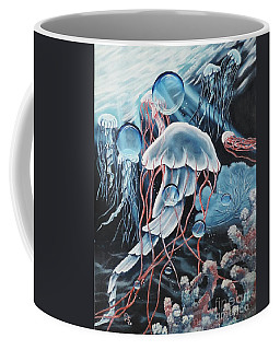 Coffee Mug featuring the painting Poetry In Motion by Dianna Lewis