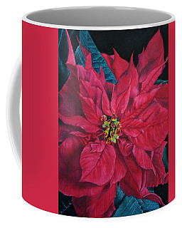 Poinsettia II Painting Coffee Mug by Marna Edwards Flavell