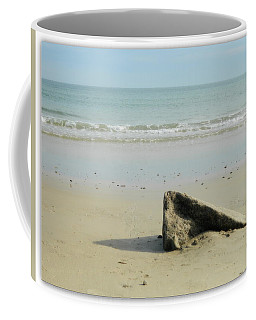 Pointed Rock At Squibby Coffee Mug by Kathy Barney