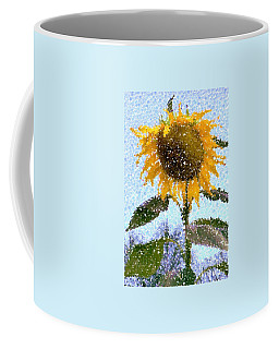 Pointillist Sunflower In Sun City Coffee Mug