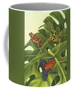 Green Tree Frogs Paintings Coffee Mugs