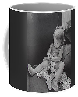 Coffee Mug featuring the drawing Pokerface by Pamela Clements
