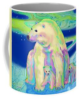 Polar Bear Aurora Coffee Mug