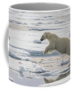 Polar Bear Jumping  Coffee Mug