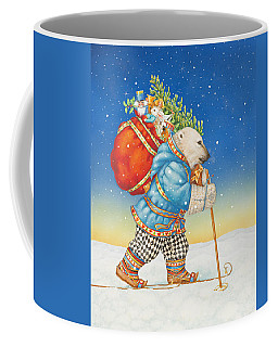 Polar Bear Santa Claus Coffee Mug