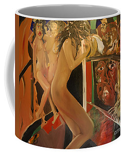 Pole Dancers And Their Admirers Coffee Mug