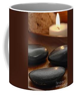 Polished Stones In A Spa Coffee Mug