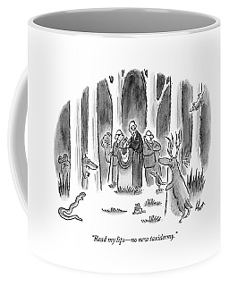 Politician Delivers Speech To Frightened Animals Coffee Mug