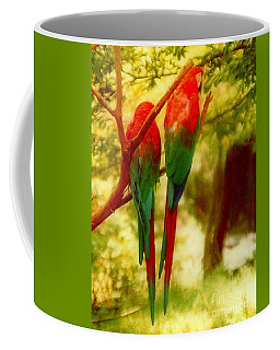 Coffee Mug featuring the photograph New Orleans Polly Wants Two Crackers At New Orleans Louisiana Zoological Gardens  by Michael Hoard