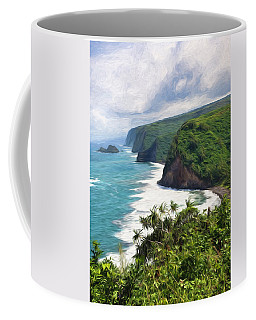 Pololu Valley Beach Coffee Mug