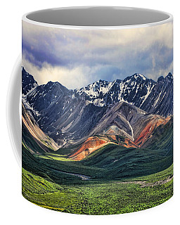 Polychrome Coffee Mug by Heather Applegate