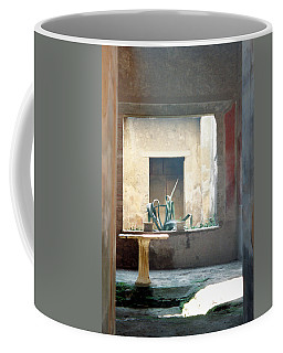 Coffee Mug featuring the photograph Pompeii Courtyard by Marna Edwards Flavell