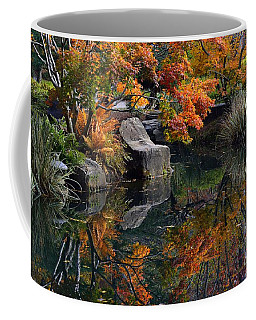 Pond In Autumn Coffee Mug