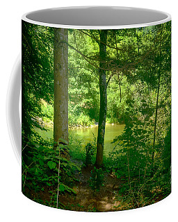 Pond In The Woods Coffee Mug by Michelle Meenawong