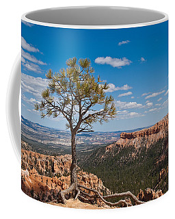 Ponderosa Pine Tree Clinging To Life On Canyon Rim Coffee Mug by Jeff Goulden