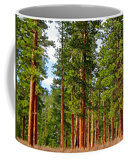 Coffee Mug featuring the photograph Ponderosa Pines by Jennifer Muller