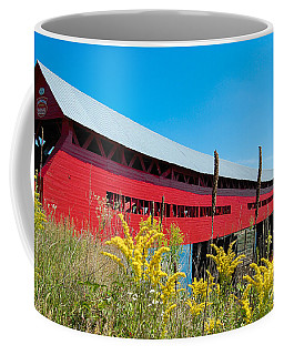 Coffee Mug featuring the photograph Pont Marchand by Bianca Nadeau