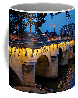 Pont Neuf Bridge - Paris France I Coffee Mug by Georgia Mizuleva
