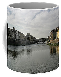 Coffee Mug featuring the photograph Ponte Vecchio by Belinda Greb