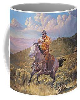 Pony Express Rider At Look Out Pass Coffee Mug