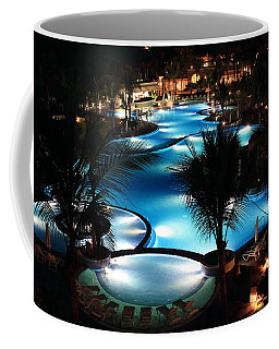 Pool At Night Coffee Mug