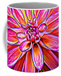 Pop Art Dahlia Coffee Mug