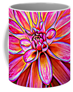 Pop Art Dahlia Coffee Mug