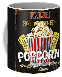 Popcorn Please Coffee Mug by Jean Plout