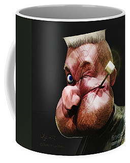 Coffee Mug featuring the painting Popeye Portrait by Dave Luebbert