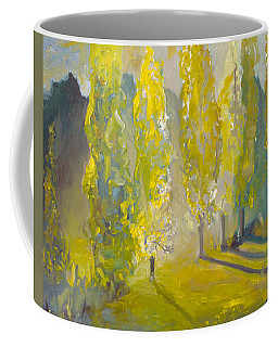 Poplars In The Morning Coffee Mug