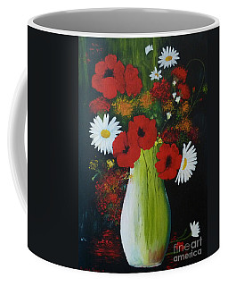 Poppies And Daisies Coffee Mug