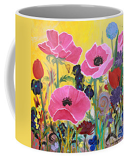 Poppies And Time Traveler Coffee Mug by Robin Maria Pedrero