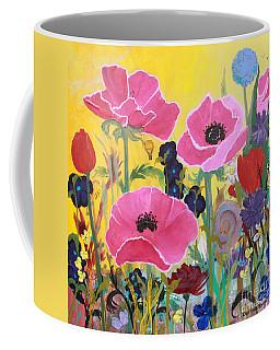 Poppies And Time Traveler Coffee Mug
