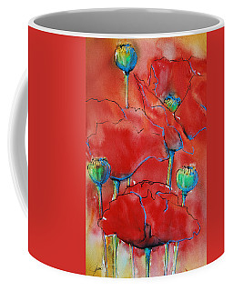 Poppies II Coffee Mug by Jani Freimann