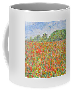 Poppies In A Field In Afghanistan Coffee Mug