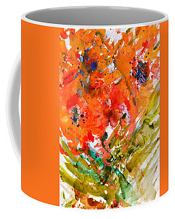 Poppies In A Hurricane Coffee Mug by Beverley Harper Tinsley